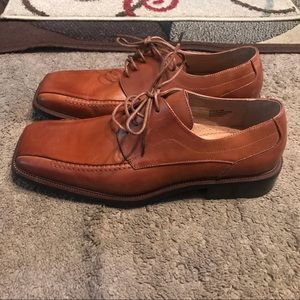 Stacy Adams Brown Leather Oxford Dress Shoes Sz 10